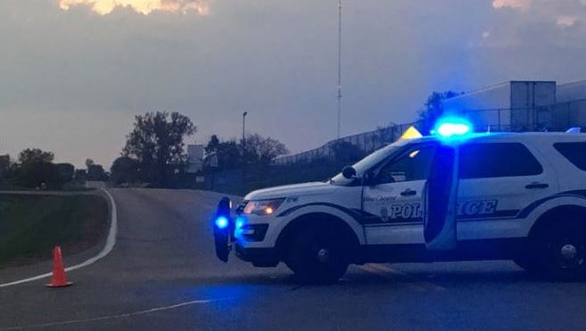 A West Chester Police have blocked off Commerce Park Drive on Wednesday night.