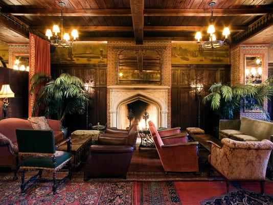NY The Bowery Hotel Lobby, Fireplace