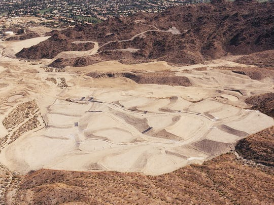 The Canyon course at BIGHORN while it was under construction, circa 1997.