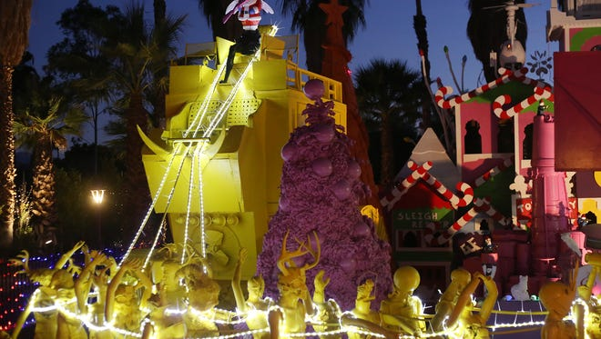 The annual Robolights display in artist Kenny Irwin Jr.'s back yard in Palm Springs.
