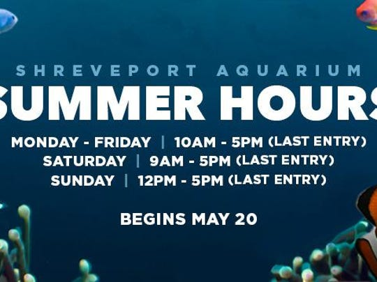 event_shreveport aquarium hours
