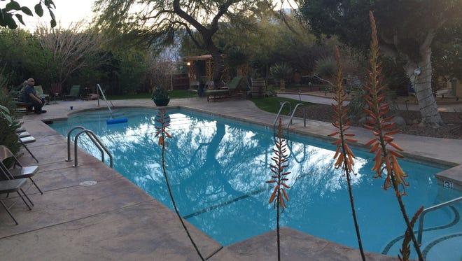 The pool at Hacienda Hot Springs Inn in Desert Hot Springs.
