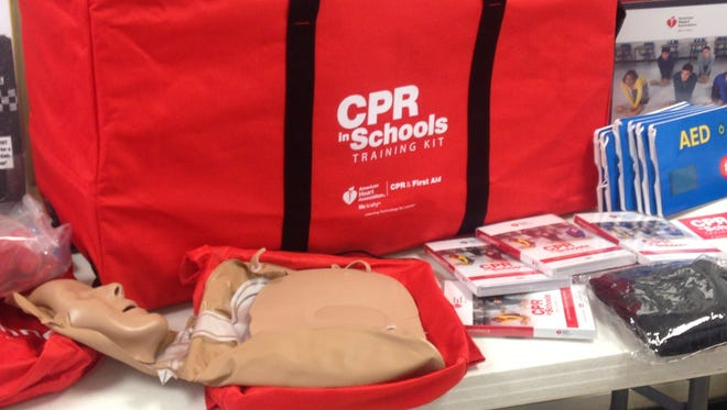 Each kit includes 10 manikins and mats for practicing in addition to instruction videos and AED simulators.