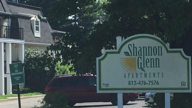 Shannon Glenn Apartments, on Shamrock Court in Evansville, Indiana.