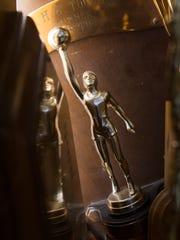 A Booker T. Washington School women's basketball trophy