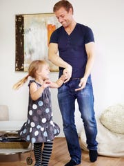 Playing and dancing with the family can work off some calories.