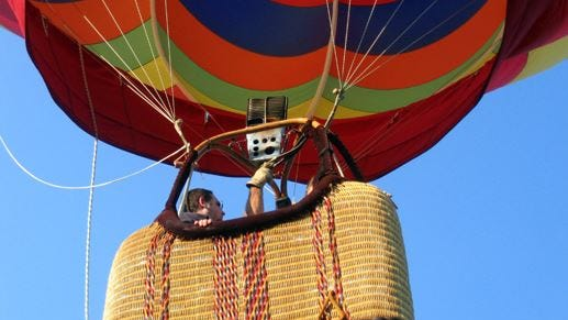 Tethered balloon rides have been a part of the festivities of Kenton County Public Library's summer reading program.