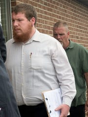 Jeremy Robbins, 22, of North Hopewell Township, walks into District Court 19-3-03 in Stewartstown on Wednesday for his preliminary hearing. He's charged with involuntary manslaughter and related offenses in death of Nancy Folcomer, 55, of North Hopewell Township, which happened on June 24, 2017.