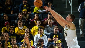 Jon Teske injects life into listless Michigan team