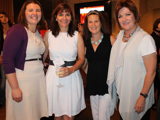 From left: Megan Bedera, Melissa Barbard, Amy Quigley and Charlene Bybee attend the Junior League of Reno mixer at Napa-Sonoma.