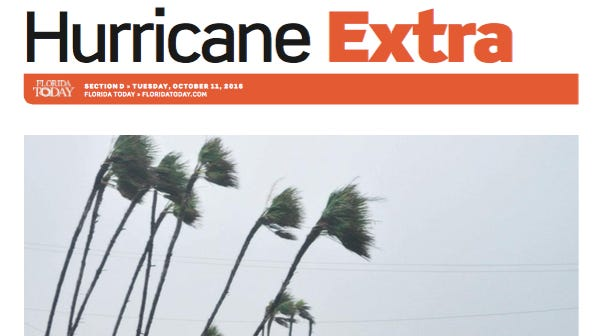 Hurricane Matthew special section coming Tuesday.
