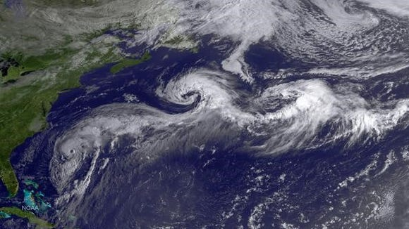 Hurricane Cristobal at 7:45 a.m. today