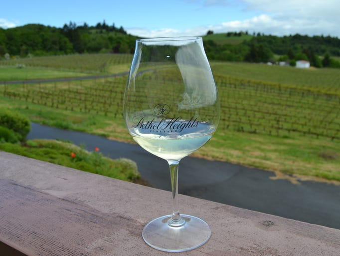 Beautiful views at Bethel Heights Winery in West Salem.