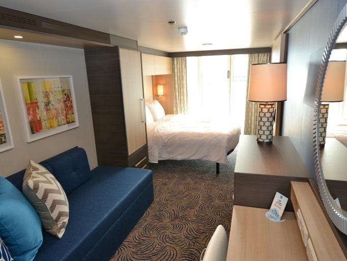 First look inside royal caribbean 39 s new quantum of the seas for Caribbean cruise balcony
