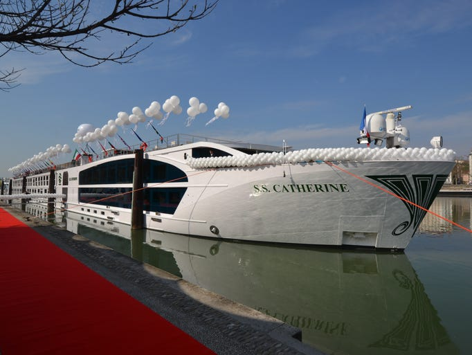 Christened in Lyon, France on Mar 27, 2014, stream line Uniworld's 159-passenger S.S. Catherine is formed on France's Rhone River. USA TODAY's Gene Sloan offers a print tour.