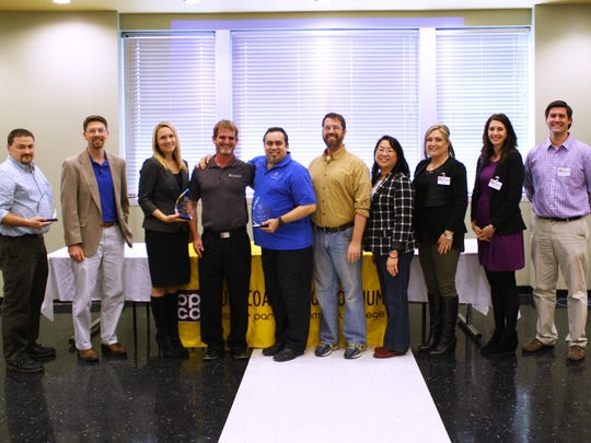 Pictured are BPCC's IT partners who received the Champion