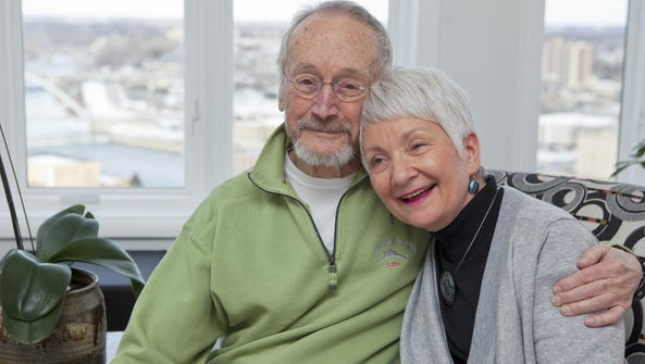 David Hurd and his wife, Trudy, of Des Moines in their