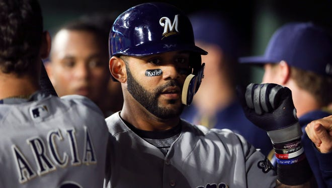 Jonathan Villar hit a pair of homers and drove in five runs on Monday night.