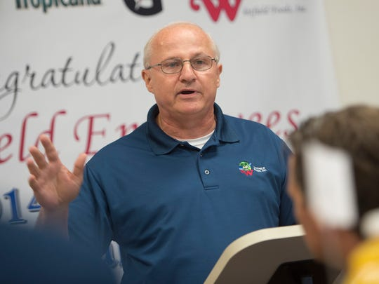 Les Massey, CEO of Whitfield Foods, speaks during a