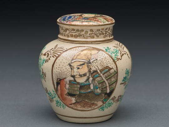 Japan, Covered Jar, 19th century, ceramic, Gift of Mrs. Harriet S. Muscroft and C.S. Muscroft, Jr.
