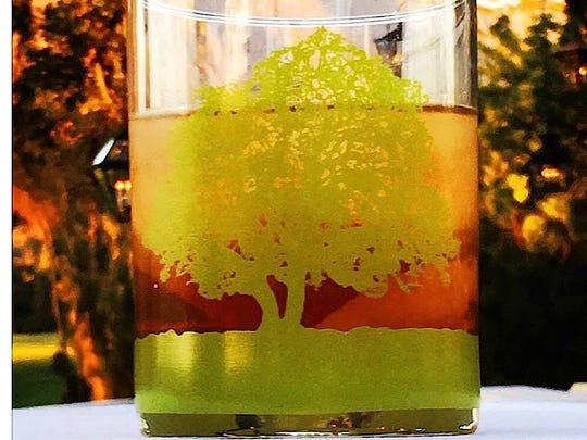 The Ojai Oak Tree Glass featuring an image by artist