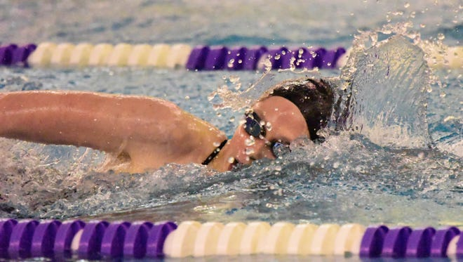 Olivia DeRodes qualified to state in two individual events and on two relays for Fremont Ross.