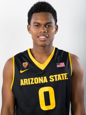 ASU guard Tra Holder during ASU Basketball Media Day at the Weatherup Practice Facility in Tempe on Thursday, October 2, 2014.