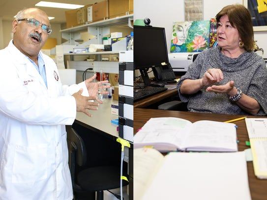 Drs. Khalid El Sayed and Karen Briski.