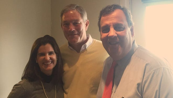 Mary Pat Christie, Kirk Ferentz and Chris Christie