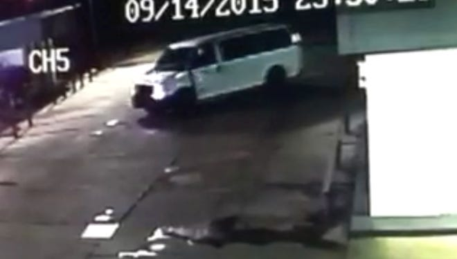 Jackson police are looking for a white Ford E250 van in connection to a church burglary.