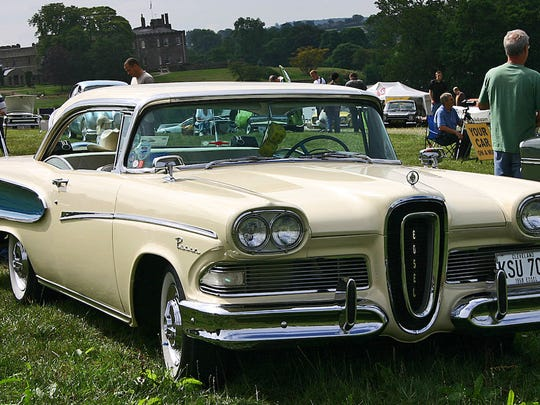 """Ford's """"car of the future,"""" was overpriced, disappointingly not futuristic, and generally ugly. The automaker ceased production of the Edsel after only two years."""