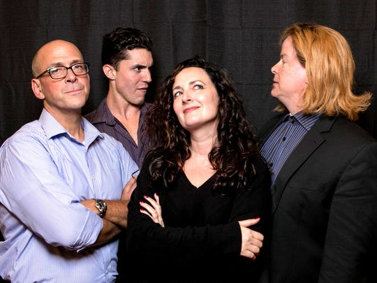 "The cast of Lab Theater's ""Burn This"" are (left to right) Rob Green, Brandon Somers, Annette Trossbach and PaulGraffy."