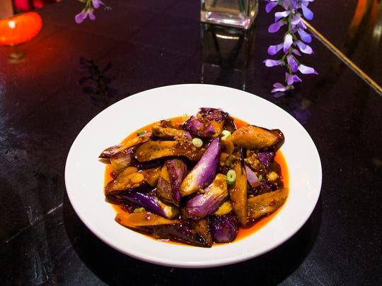 This is the Yu Xiang eggplant from Chengdu Delight Chinese Cuisine restaurant in Chandler.