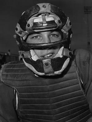 Cincinnati catcher Johnny Edwards in March of 1963.