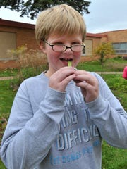 Ben Sanders, a fourth-grade student at Thomas Jefferson