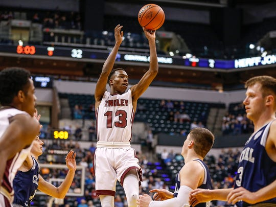 Tindley's Eric Hunter trimmed his list to six schools, including Purdue and Butler.