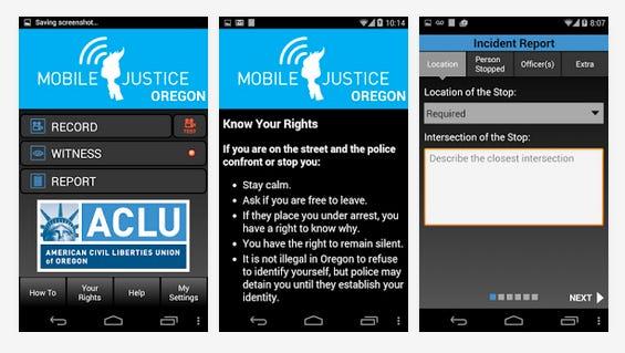 Mobile Justice app.