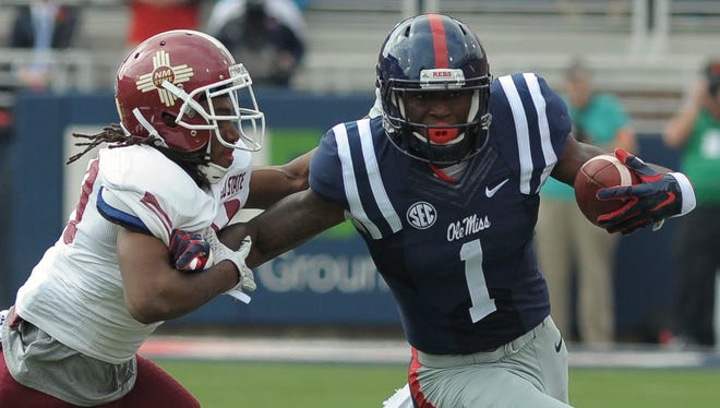 "Ole Miss wide receiver Laquon Treadwell said he's still ""in the air"" about declaring early for the NFL Draft."