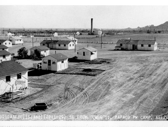 The Officers' Compound at Camp Papago Park.