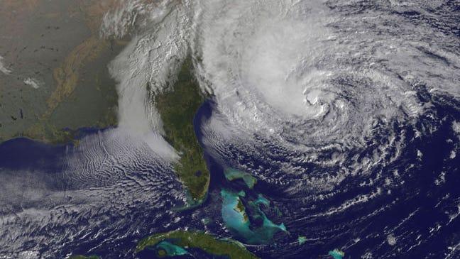 Hurricane Sandy on Oct 28, 2012
