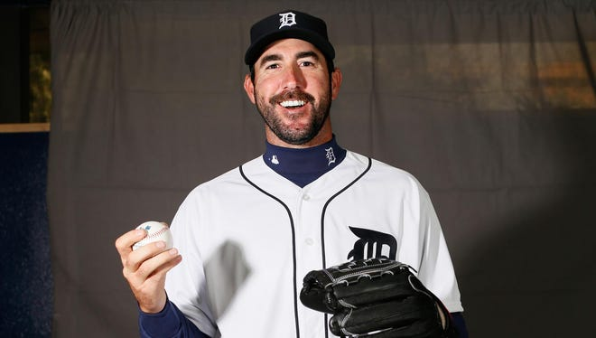There's a reason Justin Verlander is smiling, and it isn't just because he's posing for a portrait on photo day during spring training. He's happy off the field with girlfriend Kate Upton, healthy on the field after battling injuries and more mature at 33 entering this season, his 12th with the Tigers.