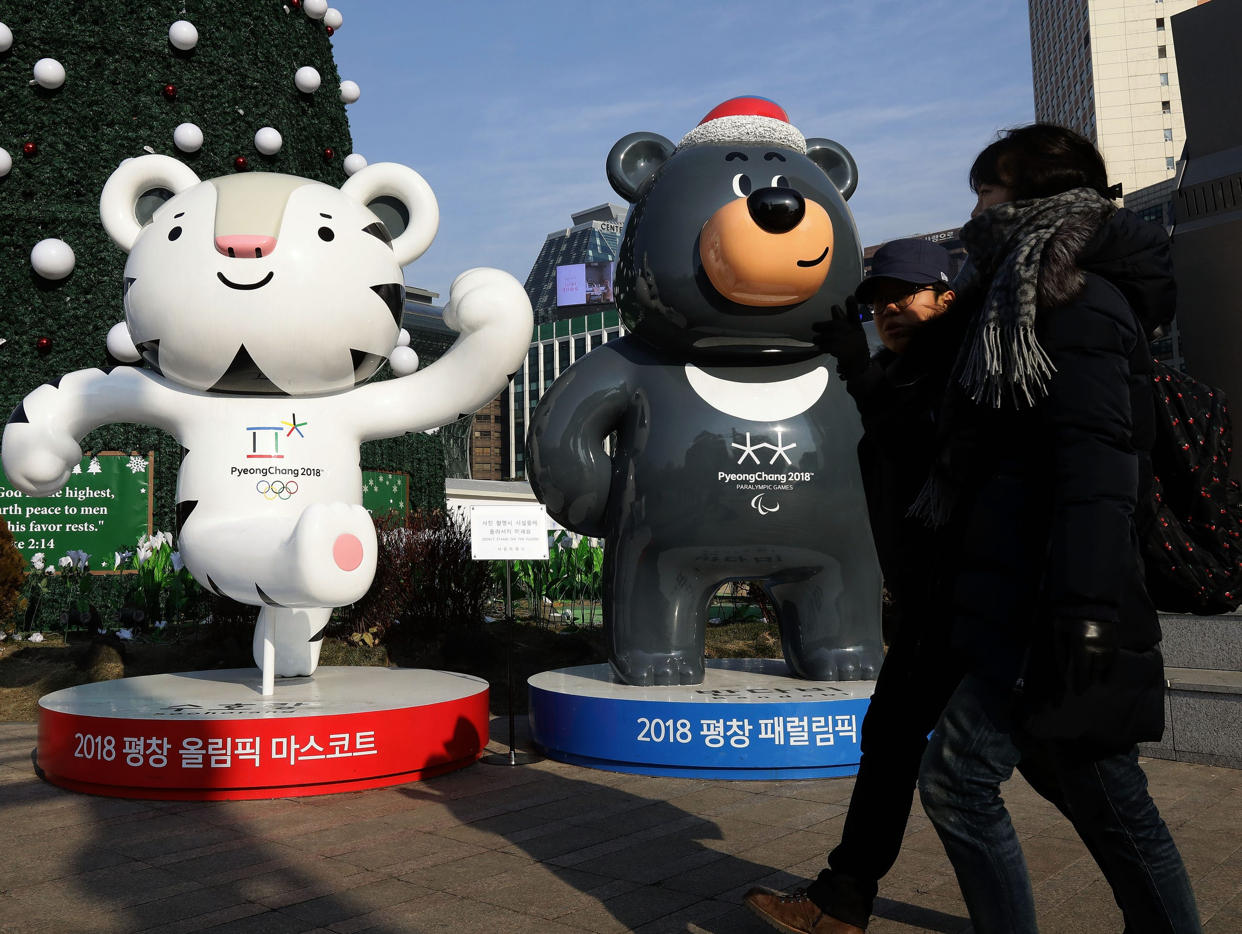 Animal-rights activists hope the Olympic mascots raise awareness about bear farming in South Korea.
