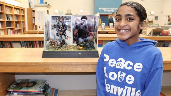 Ellenville Elementary School student Naveah Ramos won first prize in the Ellenville NAACP's Black History Month contest for her detailed diorama.