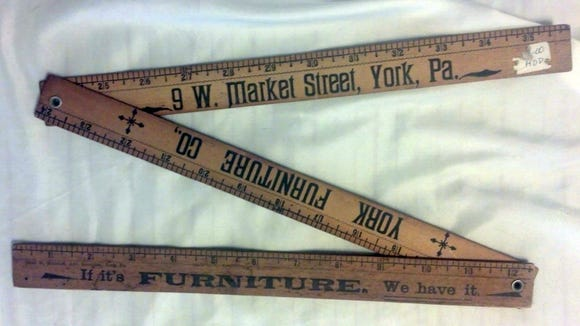 Mike Wendel, a lifelong Yorker, shared this photo of a York Furniture Co. foldable yardstick he found while antiquing. He's hoping to figure out how old it is.