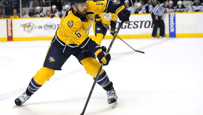 Predators captain Shea Weber will miss Games 3 and 4 against Chicago with a lower-body injury.