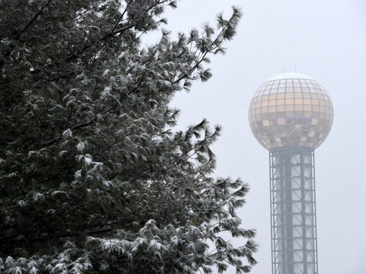 Knoxville snow flurries
