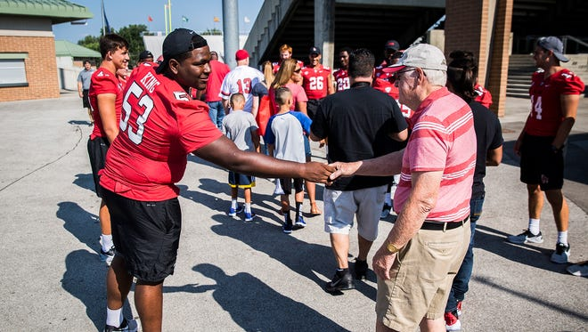 Hundreds attended Ball State's Fan Jam at Scheumann Stadium Saturday evening. The event gave students and members of the community the chance to meet Cardinal athletes and coaches.