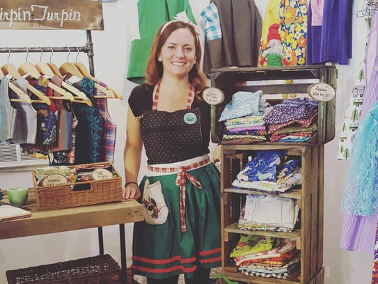 Jodi Turpin offers children's clothing and aprons made