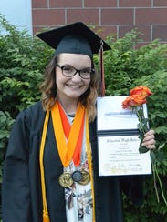 Elizabeth Hoke graduation from Silverton High School