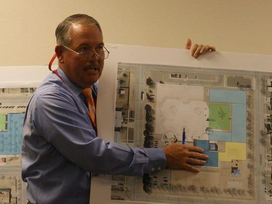 Construction Management Director Herb Borden presenting